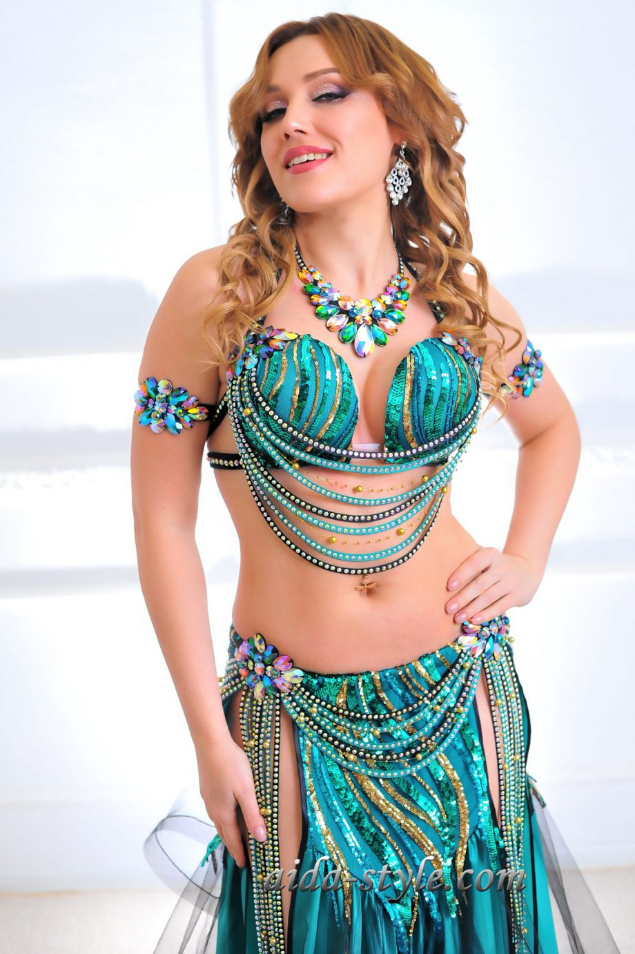 turquoise womens belly dancer costume
