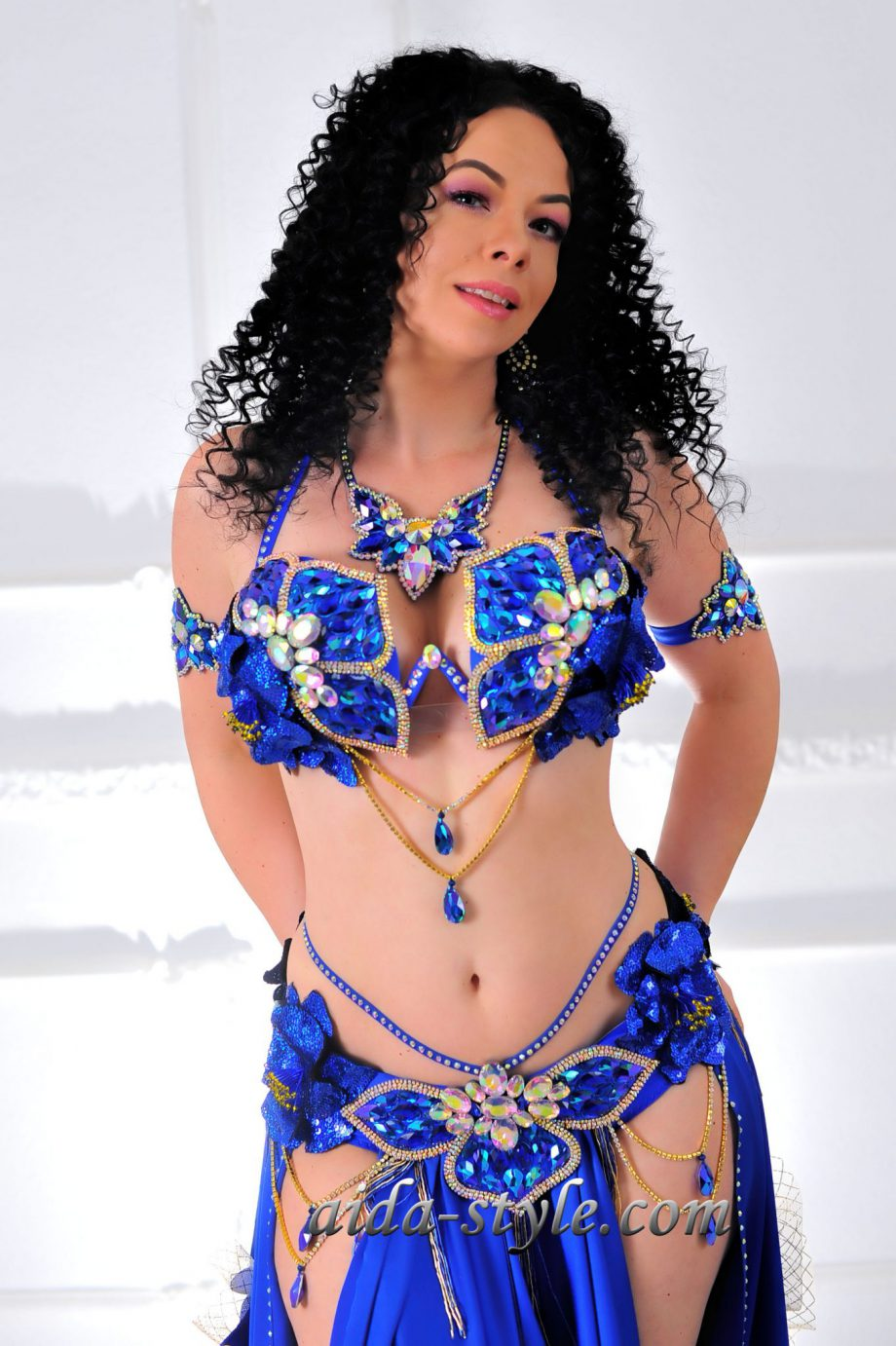blue belly dancer outfits