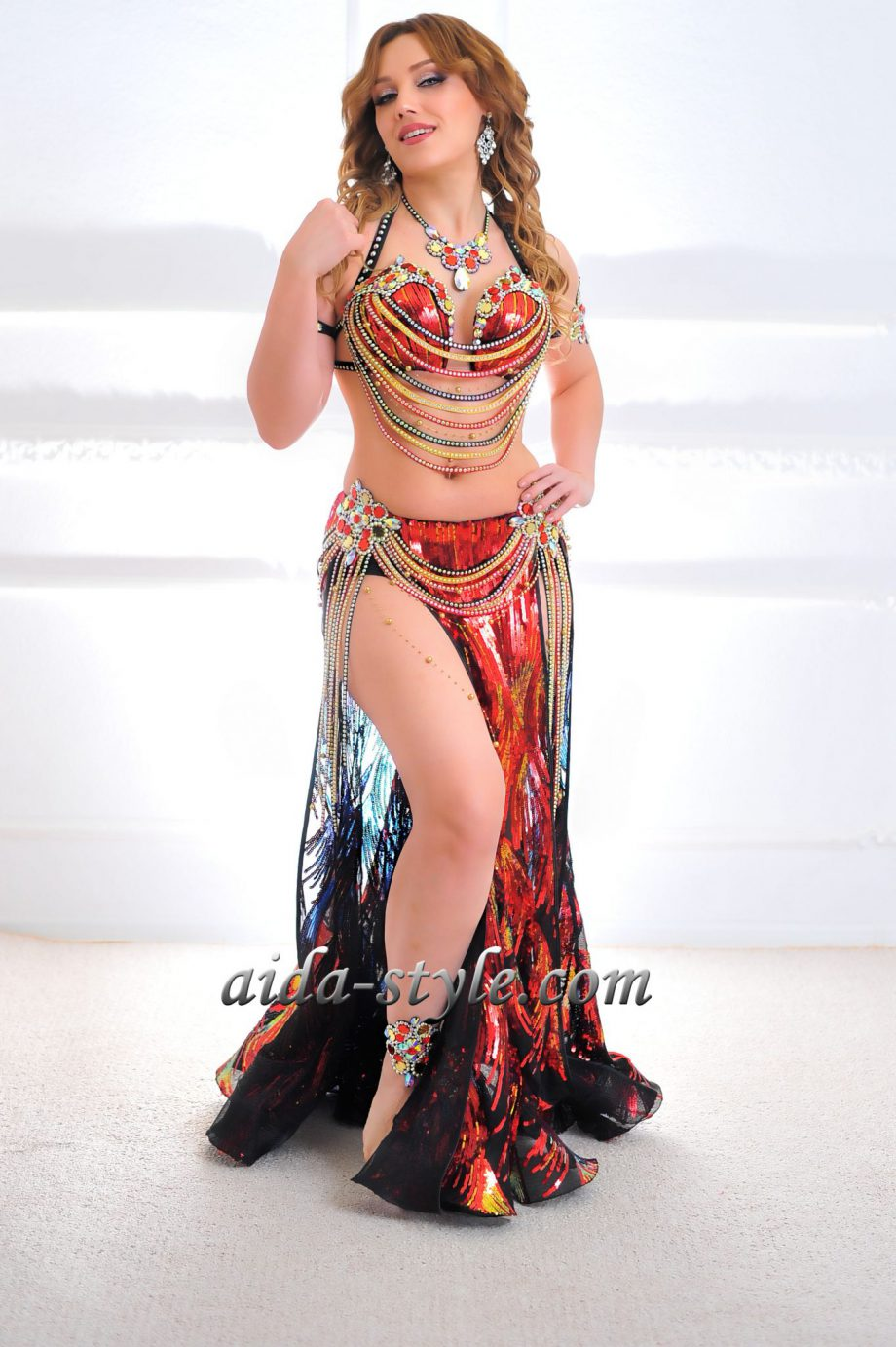 red belly dancing costumes