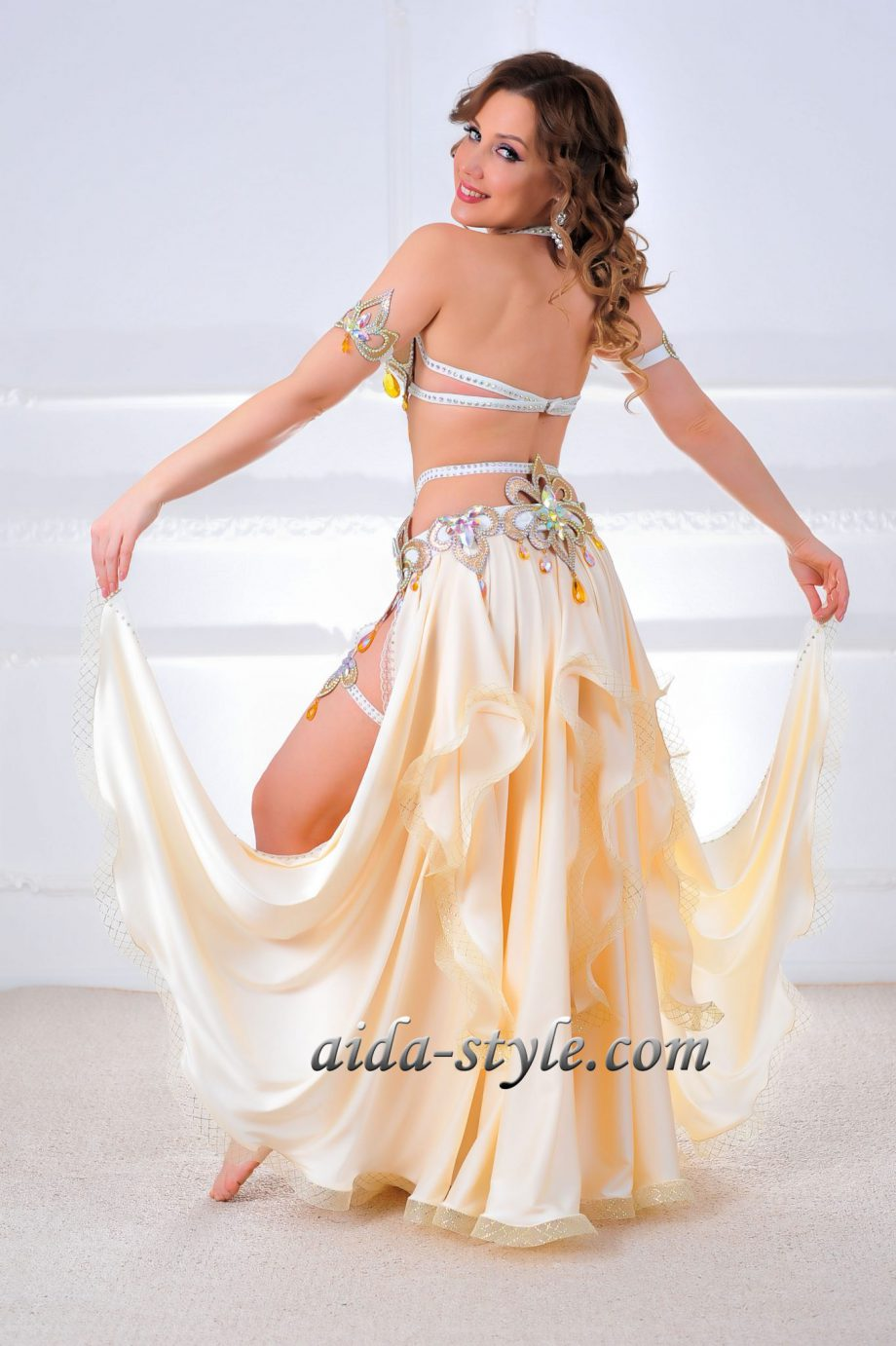belly dancers costume white