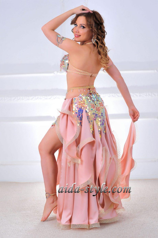 powder belly dancer costume