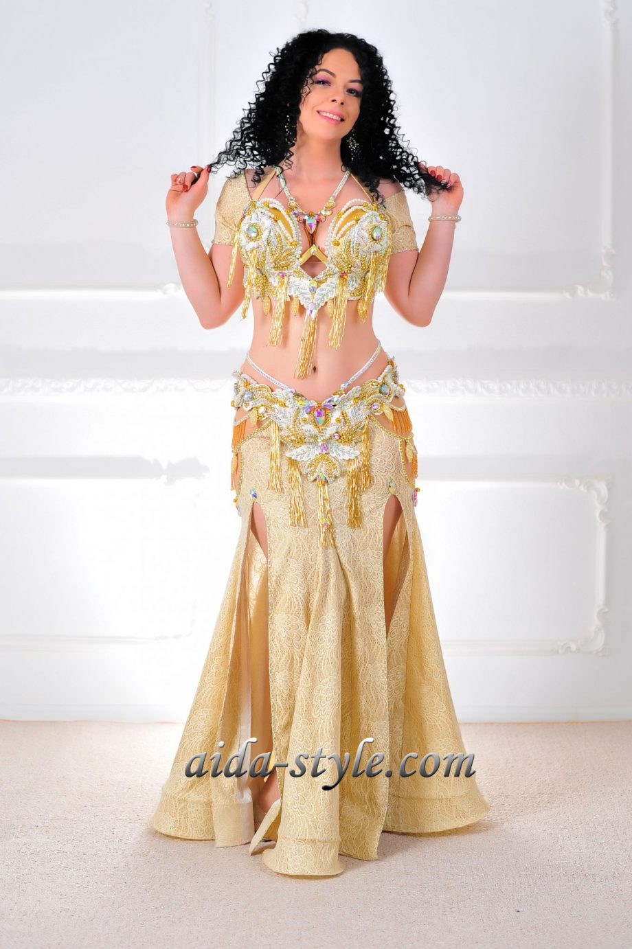 costume for belly dance gold