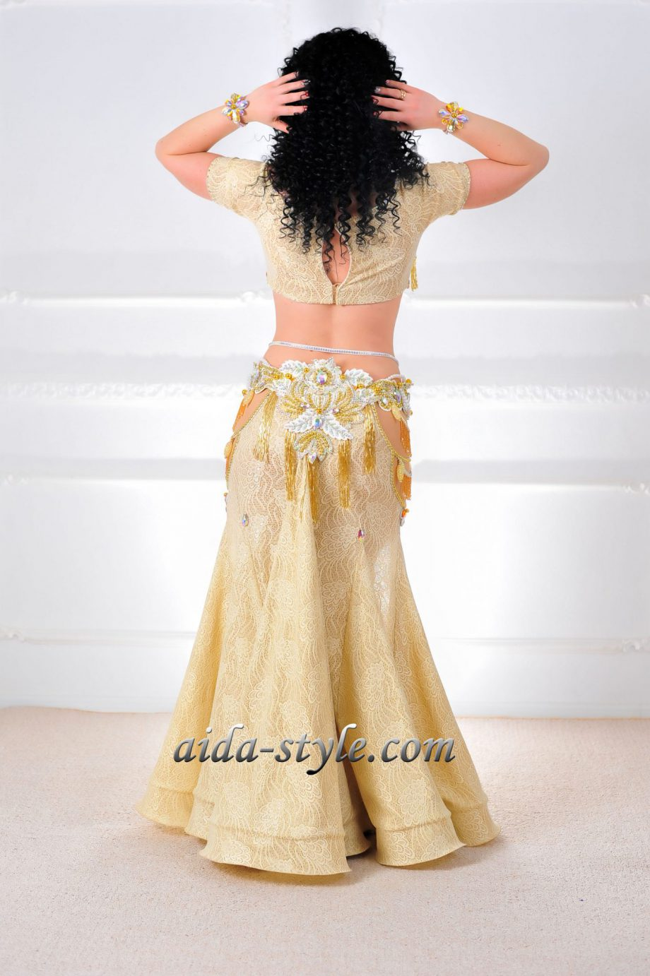 gold belly dancing costumes