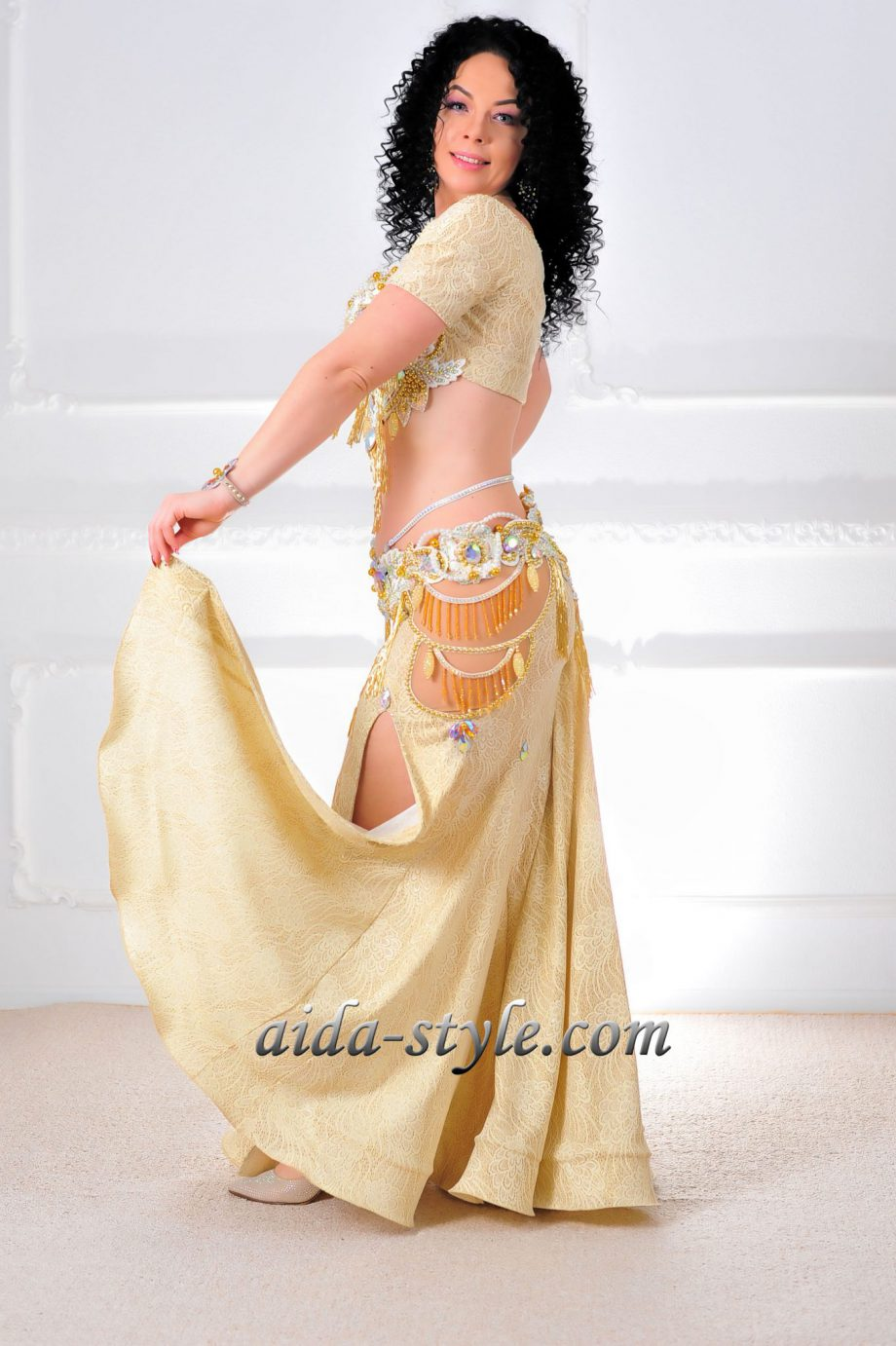golden costumes for belly dancers