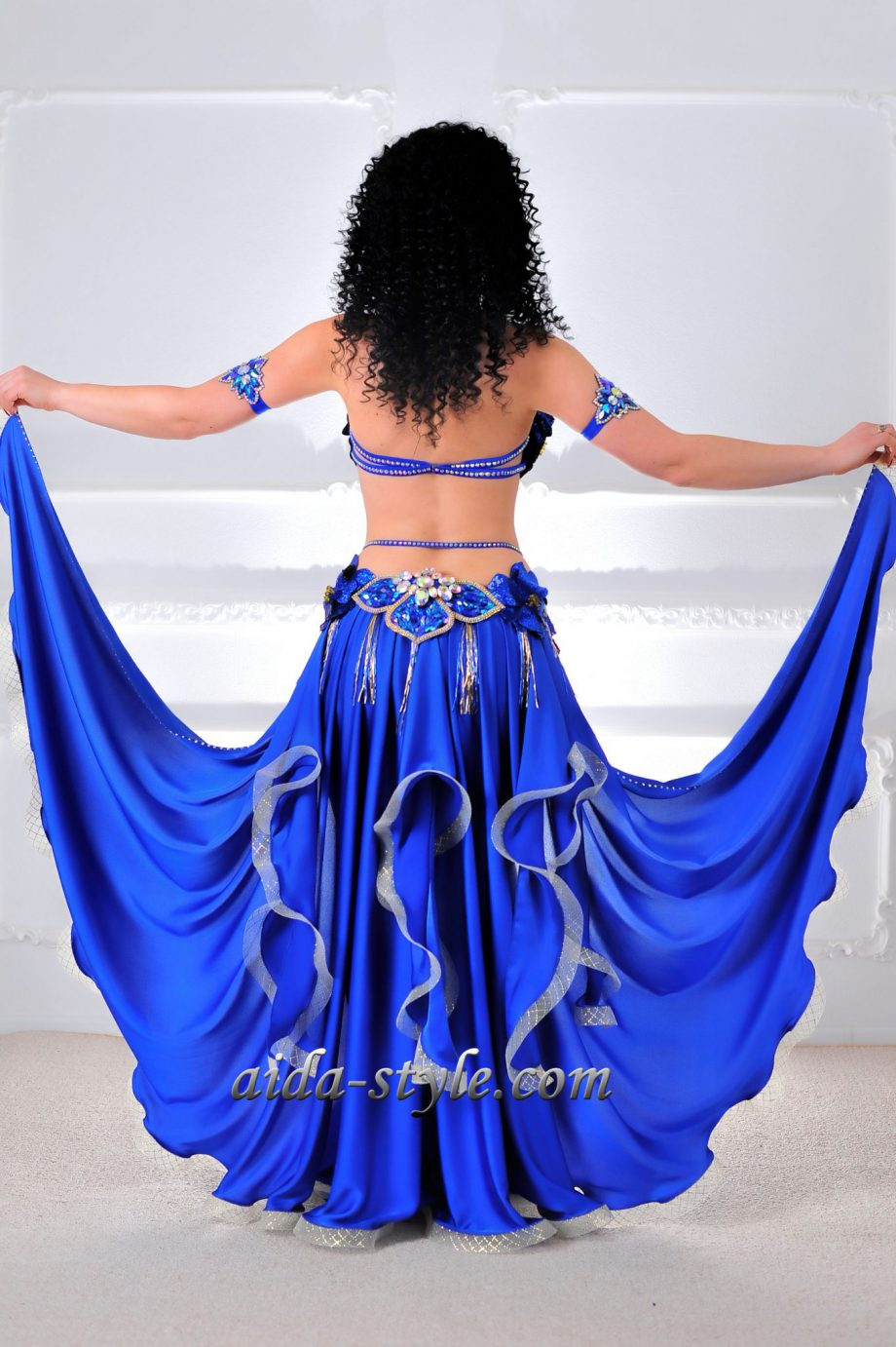 blue belly dancing costumes