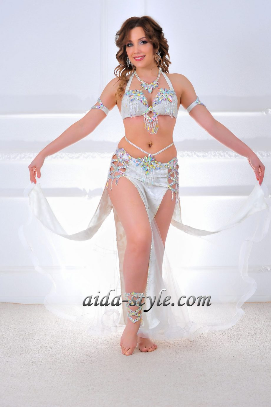 white belly dancer outfit