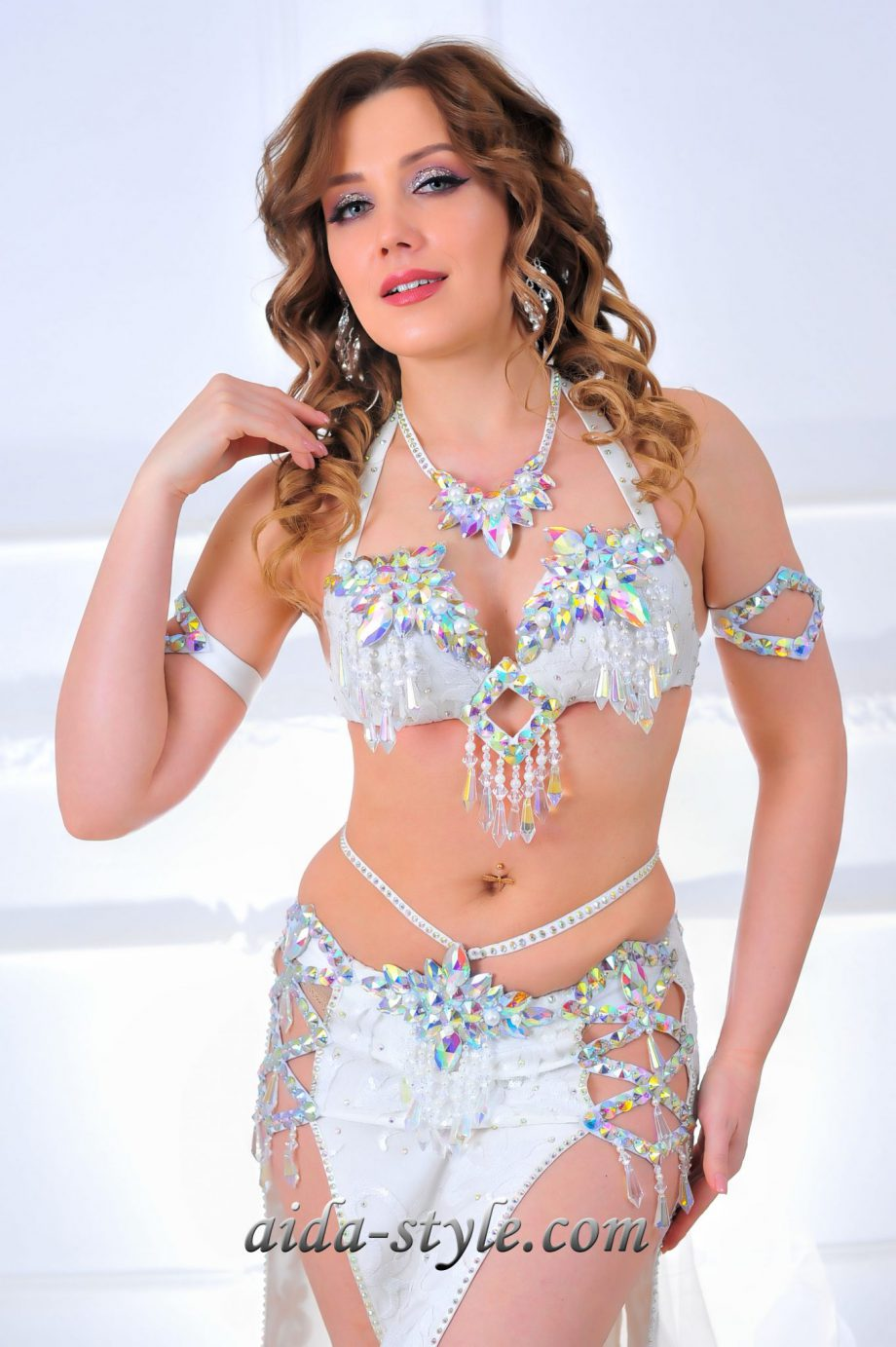 white belly dancing costumes