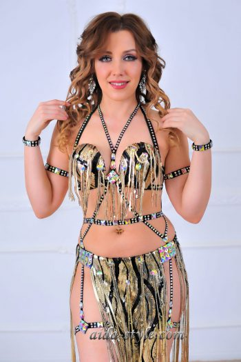 black belly dance outfit
