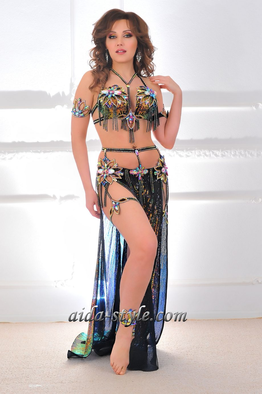 black belly dancing outfits