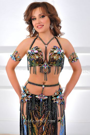black belly dancing costume