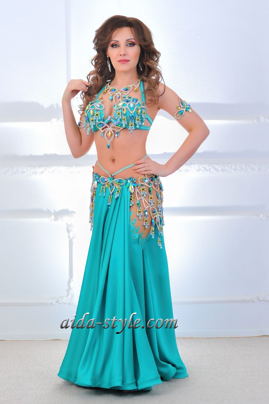 turquoise belly dancing costume