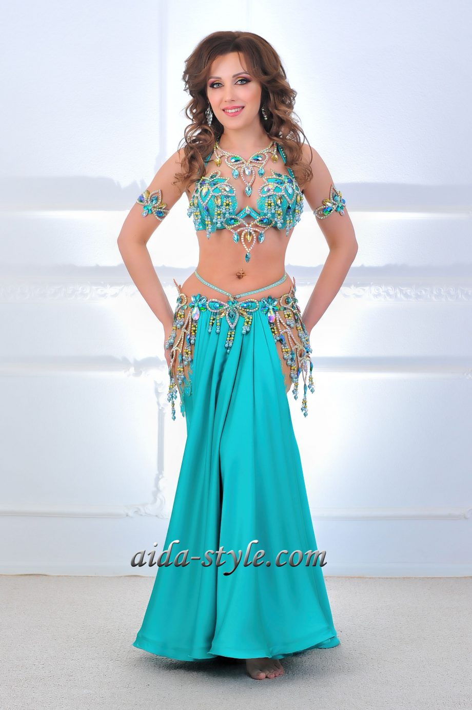 turquoise belly dancer costume