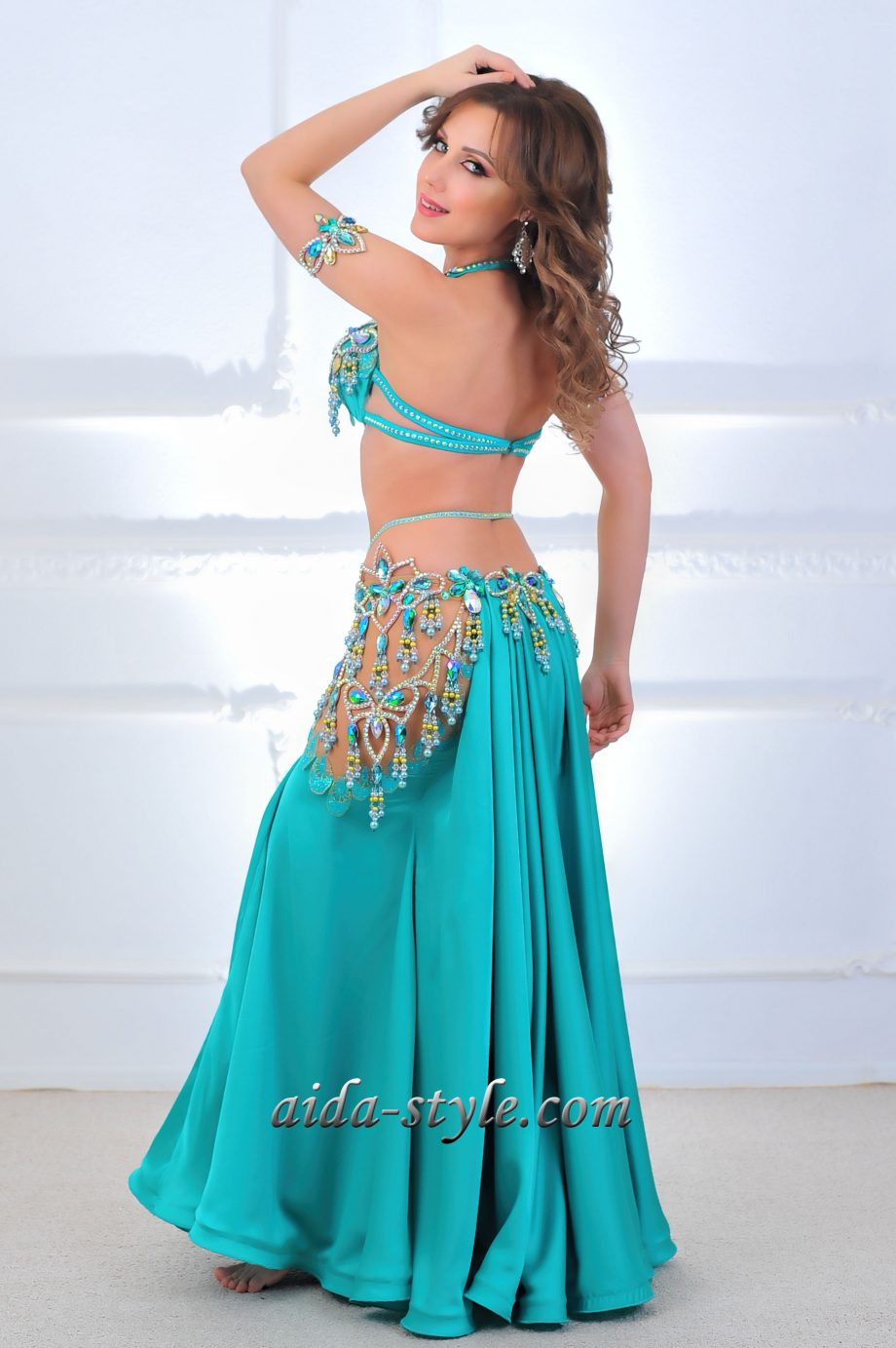 turquoise costume for belly dancers