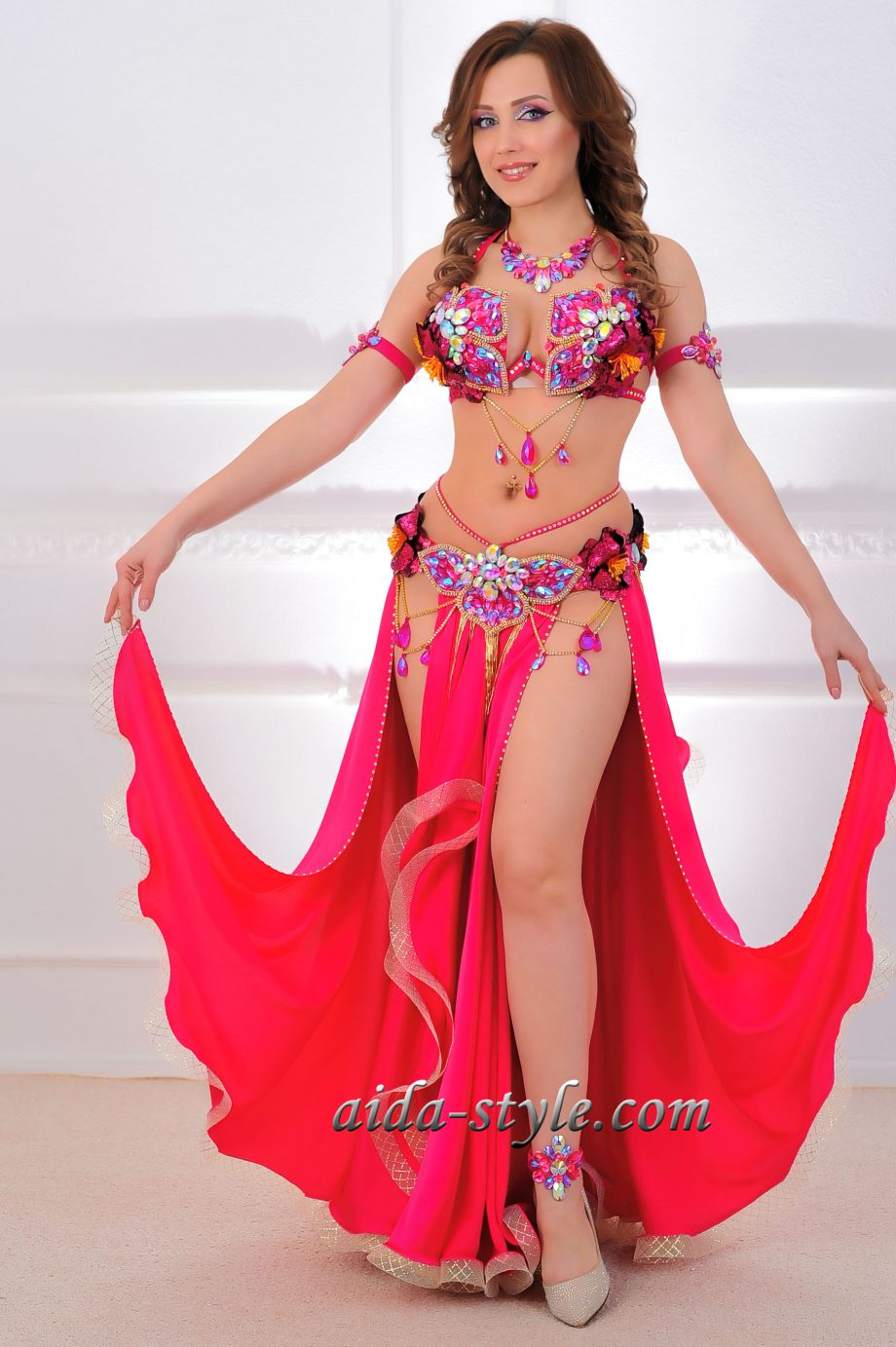 belly dance outfit pink