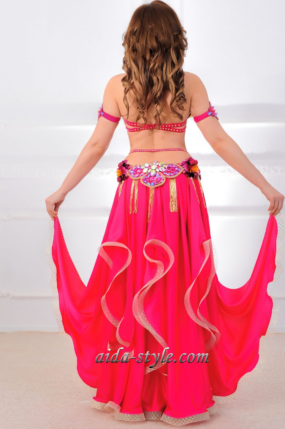 belly dance costume professional pink