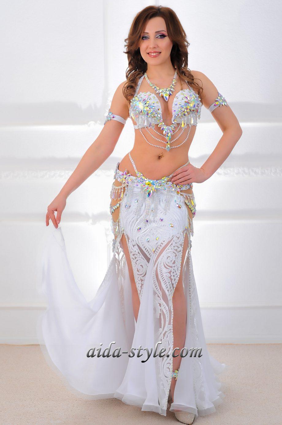 belly dancer costume white