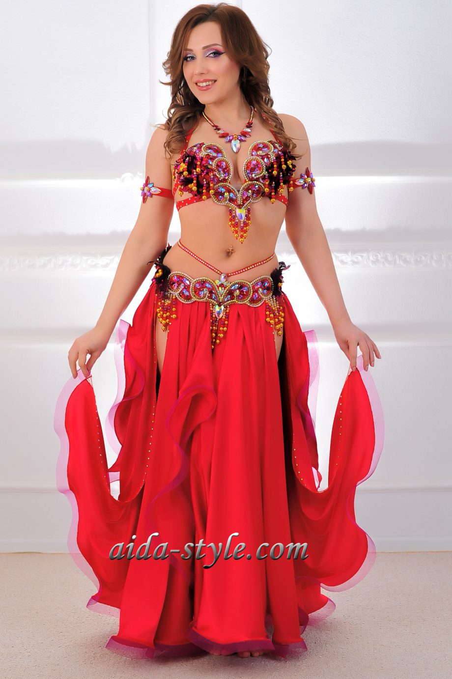 belly dancers outfits red
