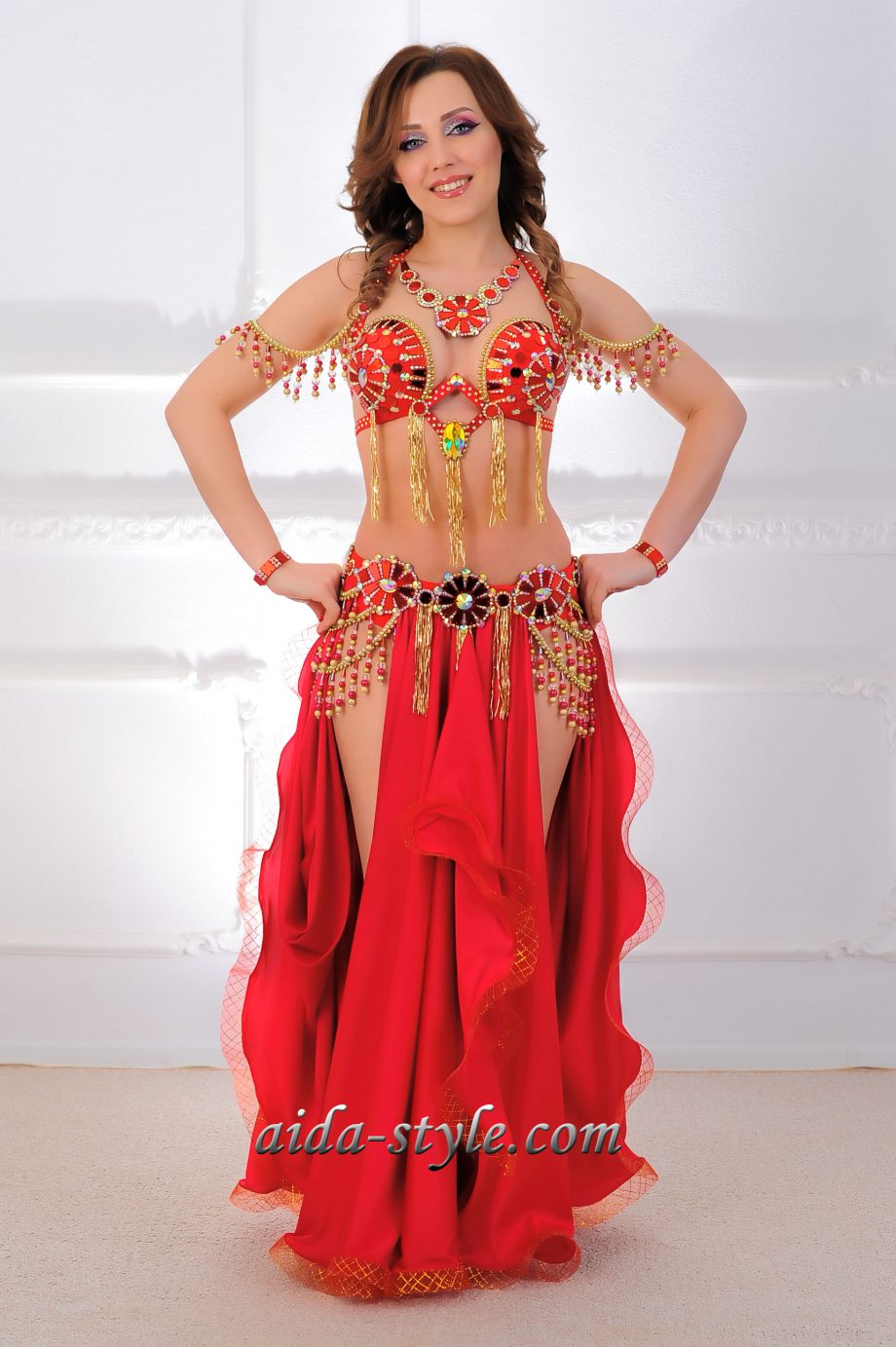 belly dance costumes red