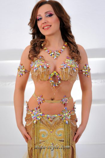 belly dancer costume golden