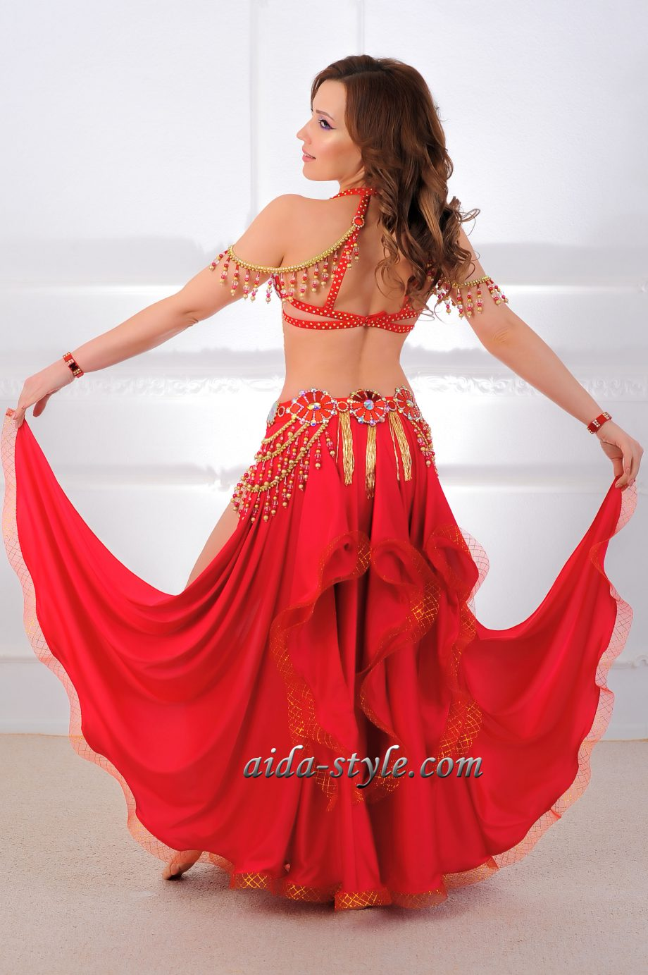red belly dancing outfits