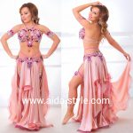 Belly dance costume Bra and Belt with garters