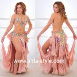 Belly dance costume Peach Sparckly