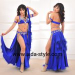 Belly dance costume Royal Blue