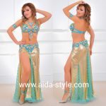 Belly dance costume gold Cleopatra