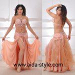 Belly dance costume peach