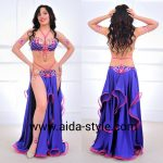 Belly dance costume purple with pink