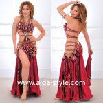 Belly dance dress Bordeaux
