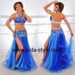 Belly dancing costume Royal Blue