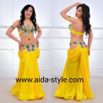 Belly dancing costume Yellow Butterfly