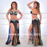 Black sequin belly dance costume