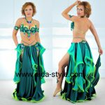 Costume for belly dance Emerald Green