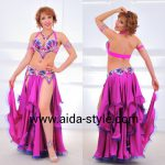 Costume for belly dance Fuchsia Butterfly