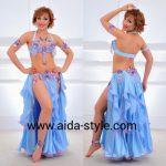 Costume for belly dancers Sky Blue