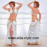 Costume for belly dancing White Cleopatra