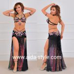 Professional belly dance costume with shorts