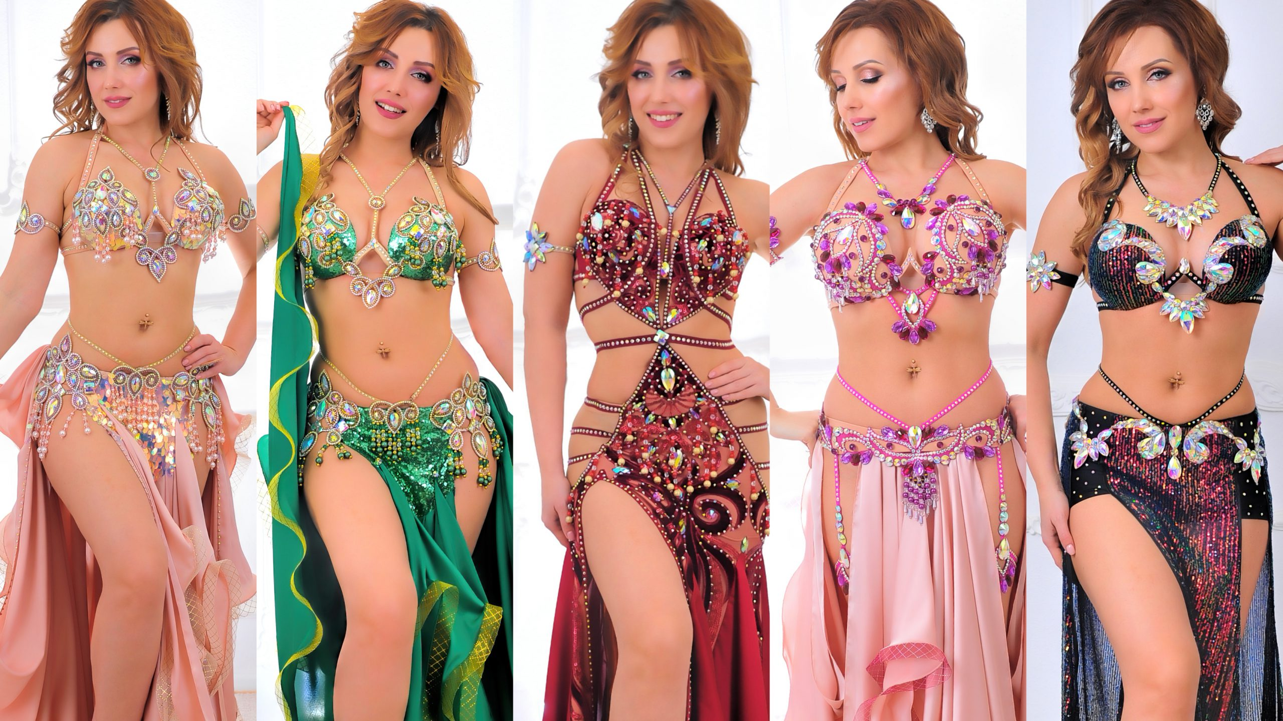 Professional belly dance costumes Aida Style
