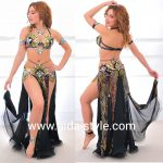 Rich black belly dance outfit