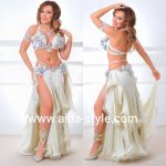 Rich decorated belly dance outfit