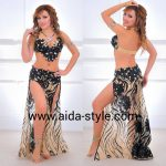 Trancparent belly dance outfit