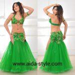 belly dance costume Green princess