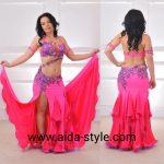 belly dance dress rose