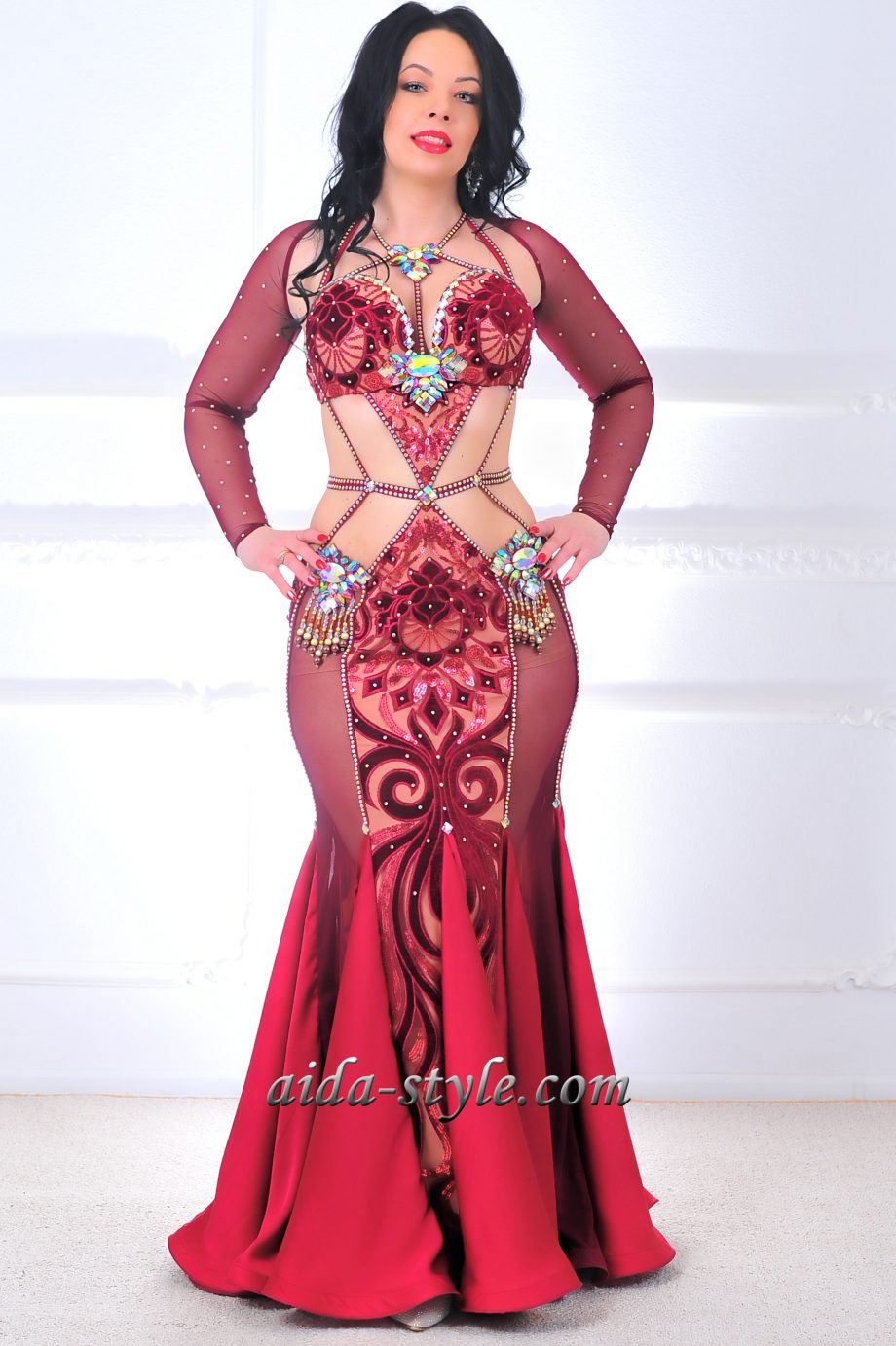 belly dance dresses red