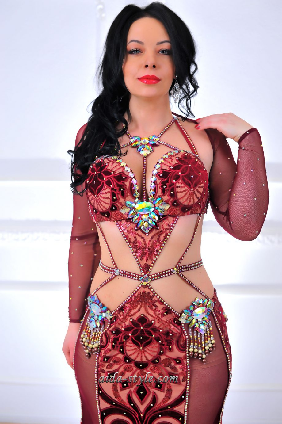 red belly dancer outfit