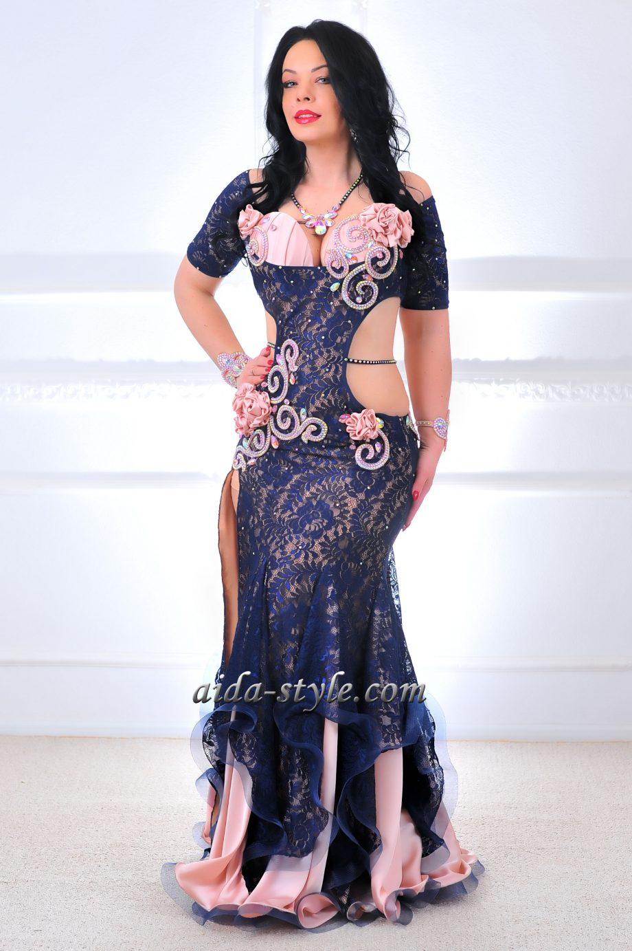 belly dancing costumes blue