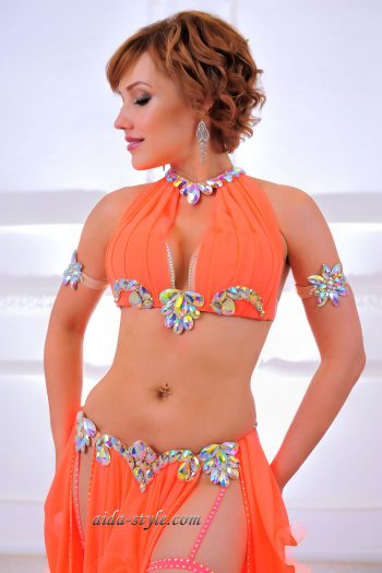professional belly dancing costume