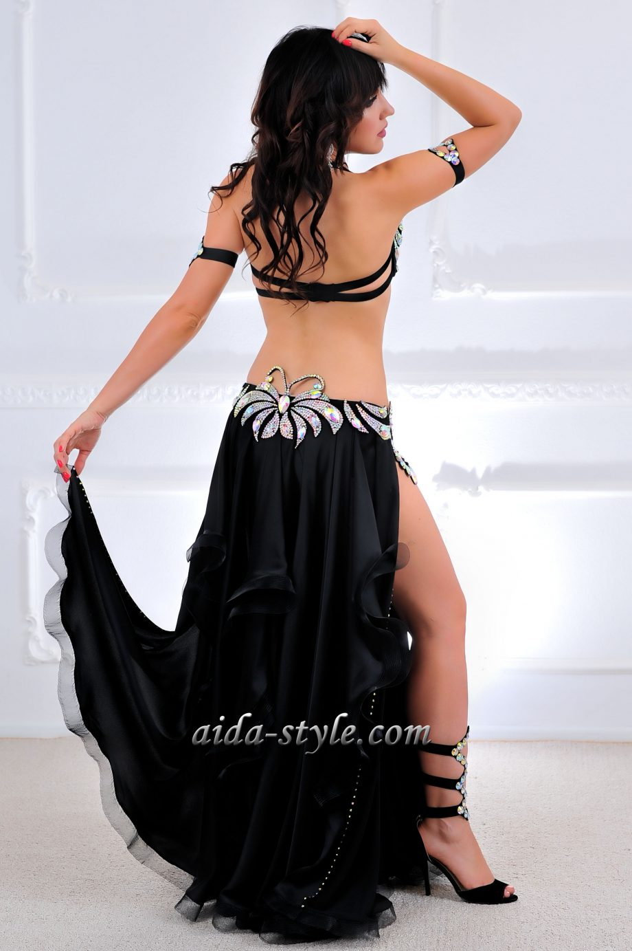 black belly dance outfits